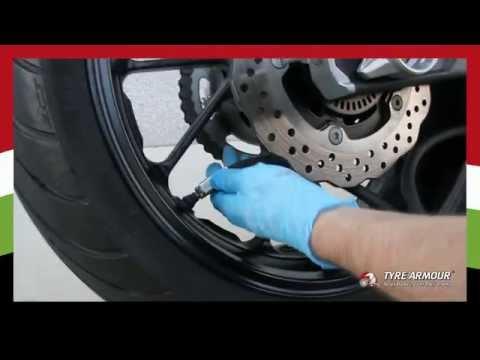 Motorbike Tyre Sealant Installation