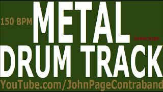 Metal Drum Track 150 bpm DRUMS ONLY Backing Track