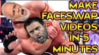How to Make Face Swap Videos with Android - KineMaster Quick Tutorial - Modi funny Video WWE