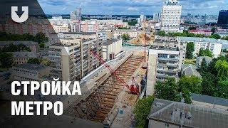 Новые станции минского метро. Съемка с высоты