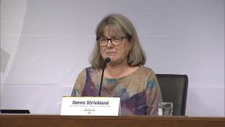 Donna Strickland, Nobel Prize winner, speaks to crowd at University of Waterloo