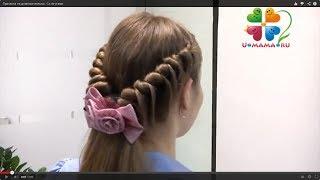 Смотреть онлайн Красивая прическа для девочек с длинными волосами