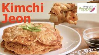 Kimchi Pancake/Kimchi Jeon (aka Kimchi Patties) - SUPER DUPER EASY RECIPE!