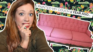 DON'T PAINT YOUR COUCH UNTIL YOU WATCH THIS! WHAT YOU NEED TO KNOW  | Laci Jane