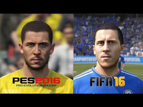 PES 2016 vs FIFA 16 Chelsea Player Faces Comparison