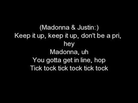 Madona feat. Justin Timberlake - 4 minutes whith LYRICS