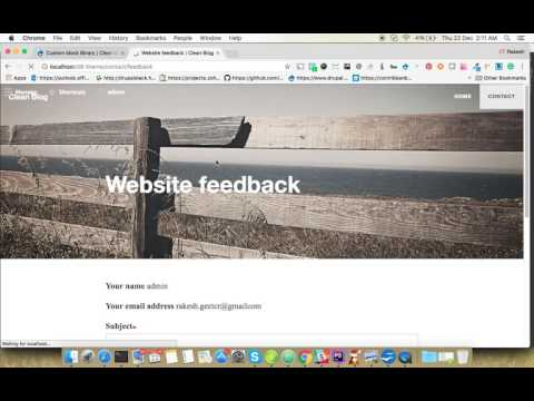 Drupal 8 Clean Blog Theme  Changing background Image or Color for  any Pages?