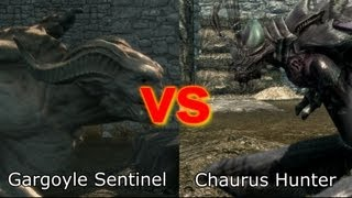 Skyrim Battle - Strongest Creature in Dawnguard