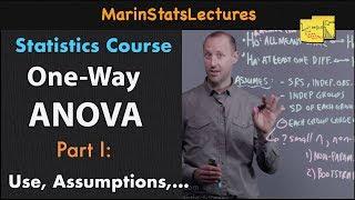One Way ANOVA (Analysis of Variance): Introduction   Statistics Tutorial #25   MarinStatsLectures