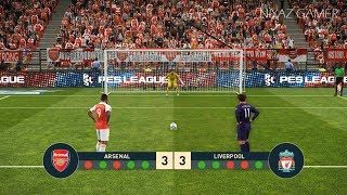 ARSENAL vs LIVERPOOL FC | Penalty Shootout | PES 2019 Gameplay PC