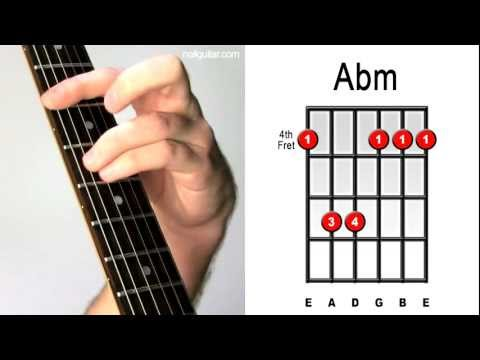 Abm Minor - Guitar Chord Lesson - Easy Learn How To Play Bar Chords Tutorial