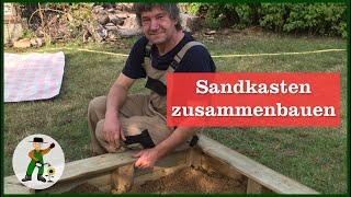 Einen Sandkasten selber bauen