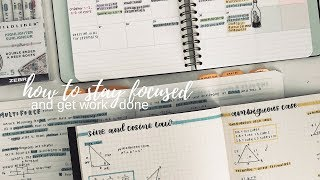 How To Stay Focused and Get Work Done || revisign