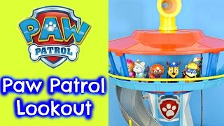 PAW PATROL Lookout Playset Toy Review Video With Paw Patrol Story Episode Nick Jr