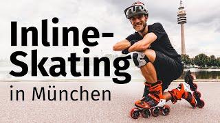 Perfektes Training fürs Skifahren: Auf Inline-Skates durch München