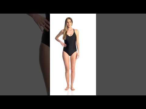 Speedo Women's Keyhole One Piece Swimsuit | SwimOutlet.com