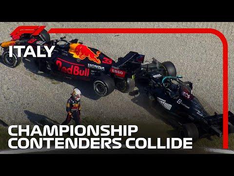 フェルスタッペンとハミルトンのクラッシュ映像 F1第14戦イタリアGP(モンツァ)