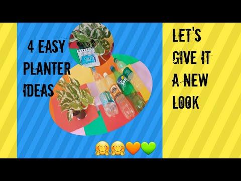 4 Easy Planter ideas/Waste Plastic bottles/Planter ideas