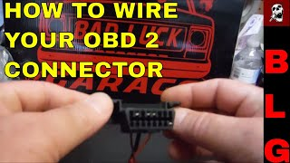 OBD II CONNECTOR WIRING FOR LS SWAPS