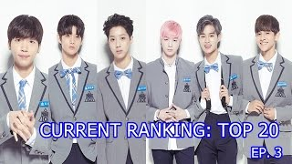 PRODUCE 101 S2 RANKING TOP 20 EP. 3