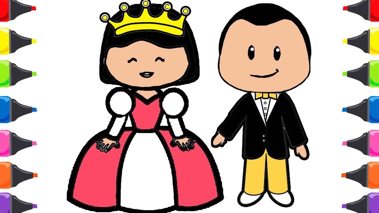 Video Pepe çizgi Film Kral Kraliçe Boyama Ile Renkleri öğreniyorum