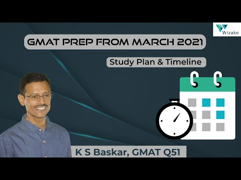 GMAT Preparation from March 2021 | Study Plan & Timeline | Wizako GMAT Preparation