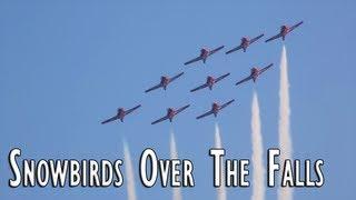 preview picture of video 'Snowbirds Over Niagara Falls 2013'