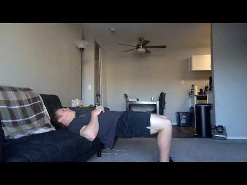 Glute Bridge March on Couch