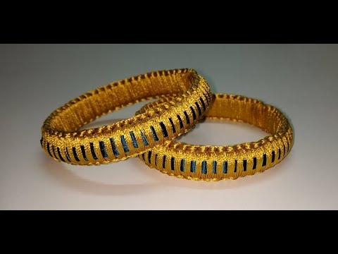 Simple and Beautiful Silk thread bangles/Latest Silk thread Bangles