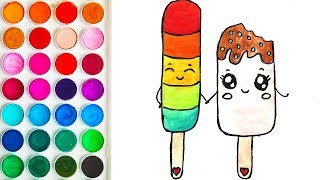 Drawings for Child with Ice Cream, Tutorial on Drawing for Children