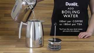 HOW TO USE THE DUALIT CAFETIERE preview