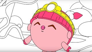 Малышарики - Раскраска - Принцесса