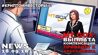 NEWS MT.GoX: выплата компенсаций приведт к краху рынка #криптоинвесторы