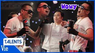 """""""Chúa hề Rap Việt"""" Wowy với những pha tấu hài cực mặn cực cồng kềnh cùng Trấn Thành, Rhymastic"""