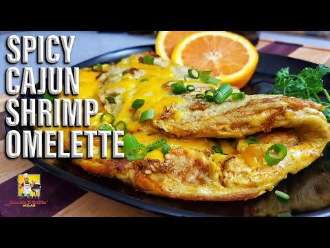 Spicy Cajun Shrimp Omelette | Keto Recipes