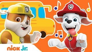'Wheels On The Bus' PAW Patrol REMIX! 🚌 Back to School Sing Along   Nick Jr.