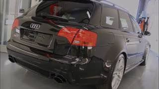 Audi RS4 2 stage correction detail, Gtechniq coatings