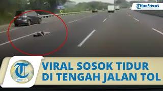 Viral Video Seseorang Tiduran di Tengah Jalan Tol Jakarta-Cikampek, Begini Tanggapan Jasa Marga