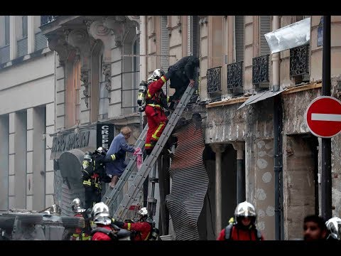 Ситуация на месте взрыва в центре Парижа