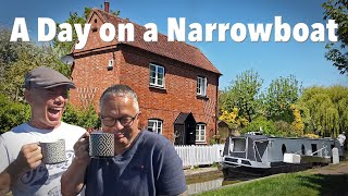 A Day on a Narrowboat Travelling the Oxford Canal