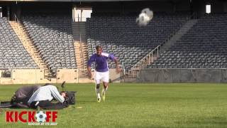 Kaizer Chiefs striker Bernard Parker shows off his skills