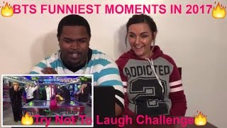 BTS FUNNIEST MOMENTS IN 2017 [Try Not To Laugh Challenge](REACTION)