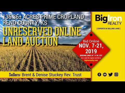 Land Auction 136.36+/- Acres Reno County, Kansas