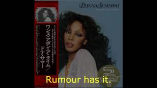 "Donna Summer - Rumour Has It LYRICS - SHM ""Once Upon A Time"" 1977"