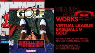 Virtual League Baseball & Golf retrospective: Red red whine | Virtual Boy Works #05