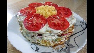 ✅Потрясающая закуска, торт из кабачков/Stunning appetizer, cake from zucchini