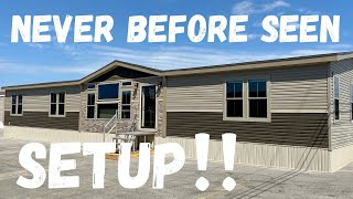 "The setup on this NEW home is SWEET! Wait until you see the ""utility"" room! Mobile Home Masters Tour"