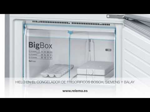 Frigorificos Bosch, Siemens y Balay, hielo en el congelador