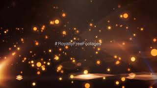 Golden bokeh particles | particles light leaks video | abstract background | Royalty Free Footages