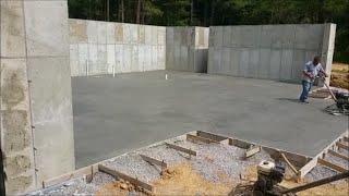 Basement floor poured & garage footers!  9 15 16